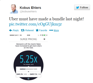 Uber tweet