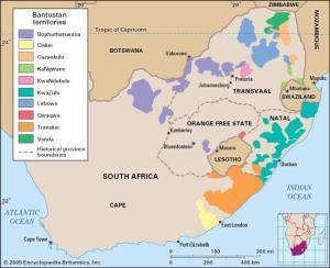Bantustans was landelike areas in Suid-Afrika waar verskillende etniese groepe hulleself kon vestig in onafanklike state